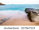 view by the coast of koh tao... | Shutterstock . vector #327067319