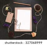 craft and stationery mockup for ... | Shutterstock . vector #327068999