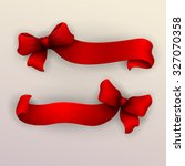 set of red ribbons. vector... | Shutterstock .eps vector #327070358