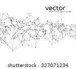 vector black abstract particles ... | Shutterstock .eps vector #327071234