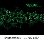 Vector Green Abstract Particle...