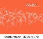 vector white abstract particles ...