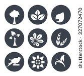 vector white natural symbols  ... | Shutterstock .eps vector #327072470
