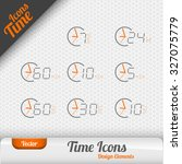 vector time icons isolated on...   Shutterstock .eps vector #327075779