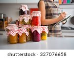 in the foreground  a stack of... | Shutterstock . vector #327076658