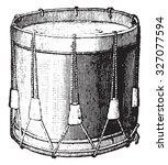 snare drum strings  vintage... | Shutterstock . vector #327077594
