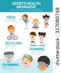 sports health infographics ... | Shutterstock .eps vector #327080768
