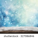 winter snowy abstract... | Shutterstock . vector #327086846