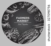 templates for label design with ... | Shutterstock .eps vector #327098756