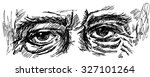 eyes of old man with wrinkles... | Shutterstock .eps vector #327101264
