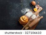 baking pastry ingredients ... | Shutterstock . vector #327106610