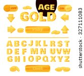 colorful gold font for the...