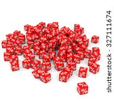 red discount cubes. 3d... | Shutterstock . vector #327111674