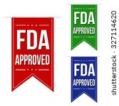 fda approved banner design set... | Shutterstock .eps vector #327114620