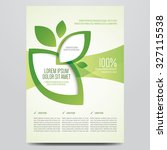 vector eco flyer  poster ... | Shutterstock .eps vector #327115538