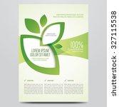 vector eco flyer  poster ... | Shutterstock .eps vector #327115538