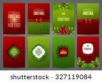 christmas backgrounds set | Shutterstock .eps vector #327119084