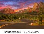 Beautiful Sunset Scenery Of...