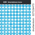 smartphone 100 icons universal... | Shutterstock .eps vector #327126473