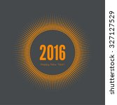 round banner with rays. happy... | Shutterstock .eps vector #327127529