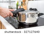 high pressure aluminum cooking... | Shutterstock . vector #327127640