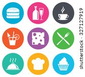 food  drink icons. coffee and... | Shutterstock .eps vector #327127919