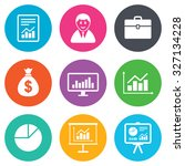 statistics  accounting icons.... | Shutterstock .eps vector #327134228