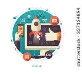 illustration of vector  flat...   Shutterstock .eps vector #327134894