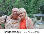 happy couple aged. many years... | Shutterstock . vector #327138248