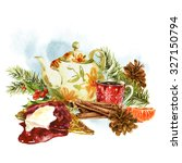 Watercolor Greeting Card With...