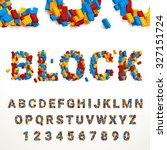 vector typeface made of... | Shutterstock .eps vector #327151724