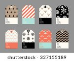 collection of christmas and new ... | Shutterstock .eps vector #327155189