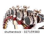 detail of industrial knitting... | Shutterstock . vector #327159383
