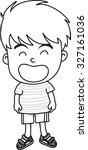 cartoon boy | Shutterstock .eps vector #327161036