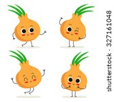 onion. cute vegetable vector... | Shutterstock .eps vector #327161048
