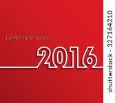 vector modern red simple happy... | Shutterstock .eps vector #327164210