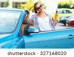 young pretty woman in... | Shutterstock . vector #327168020