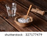 baking soda into the bowl with... | Shutterstock . vector #327177479