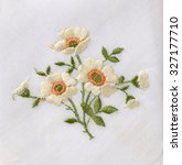 hand embroidered flower | Shutterstock . vector #327177710