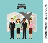 travel agency design  vector... | Shutterstock .eps vector #327179078