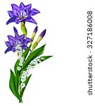 Blue Iris Flower Isolated On...