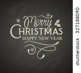 christmas lettering with... | Shutterstock .eps vector #327188090