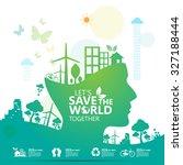 environment infographic | Shutterstock .eps vector #327188444