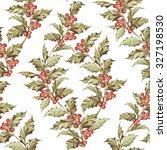 mistletoe seamless pattern for... | Shutterstock . vector #327198530