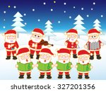 santa claus who holds christmas ... | Shutterstock .eps vector #327201356