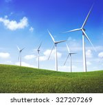 turbine green energy... | Shutterstock . vector #327207269