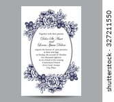 invitation with floral... | Shutterstock .eps vector #327211550