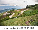 a mountain scenery of phu tub... | Shutterstock . vector #327211784