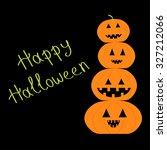 four funny pumpkins. halloween... | Shutterstock .eps vector #327212066