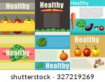 infographic design with healthy ... | Shutterstock .eps vector #327219269